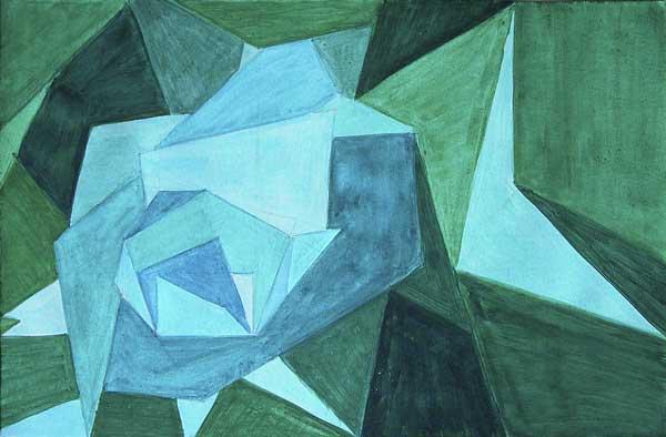 Elena Kropf, Forme strucurale (pentagone), 21x34cm