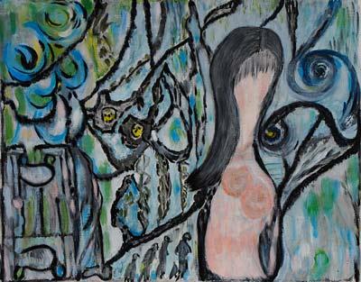 Hsayen Souad, Acrylique, 40x32