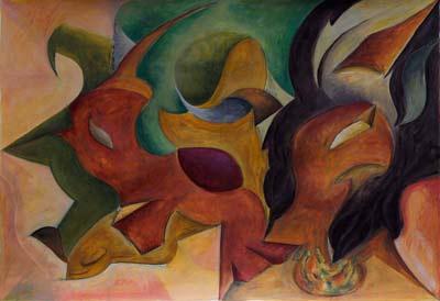 Isabelle Von Rotz, Acrylique, 50x35