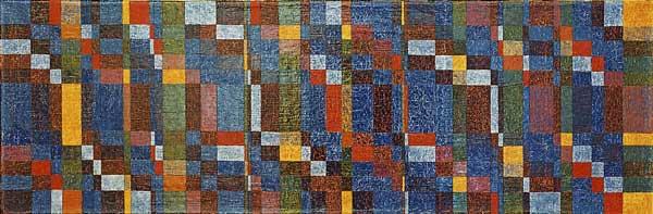 4 season blues, 2004 Huile sur toile, 33x101cm