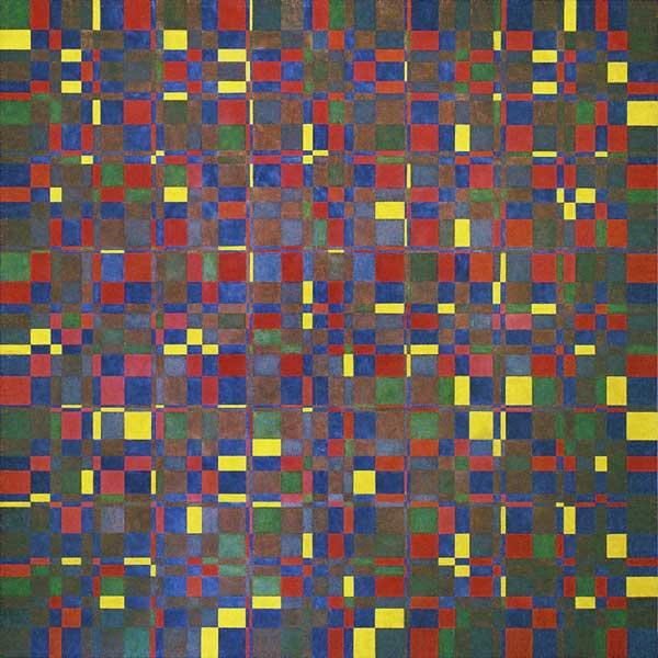Triphonie spirale, 2005 Huile sur toile, 180x180cm
