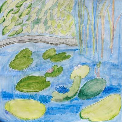 Marie Favre, Gouache et Crayon, 50x50