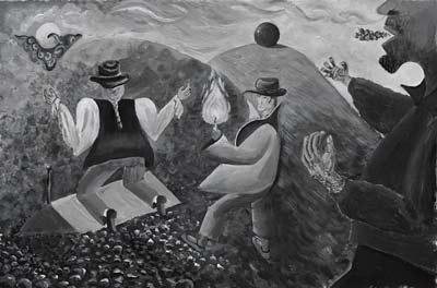 Rémy Verdia, Le Doute La Lumière Et La Rage, Acrylique, 36x24