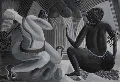 Rémy Verdia, Les Opposées, Acrylique, 34x25