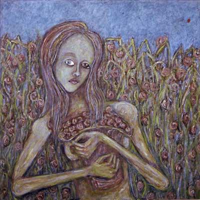 Personnages principaux de mon opéra bulgare non écrit #3, 80x80cm, huile sur toile, 2002