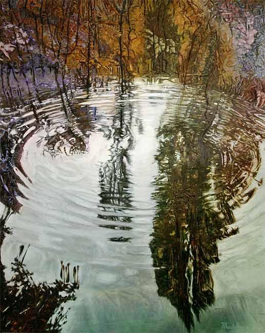 Reflet automnal , 2003 huile, 152 x 120cm