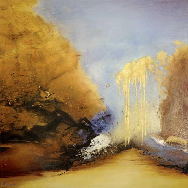 L'envolée lyrique, 2003 huile, 120 x 120cm