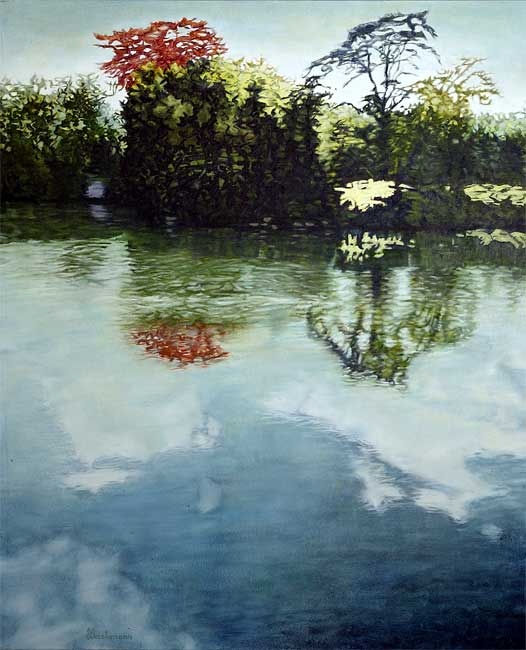 Reflet estival, 2003 huile, 114 x 92cm