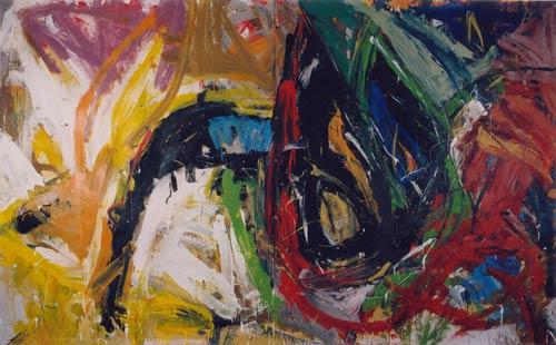 Affrontement pathético-plastique 1997 - acrylique - 320x200