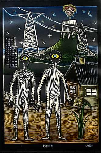 La nuit gravure, 20x28cm