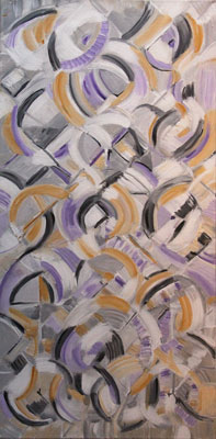 Gilbert Künzi, Acrylique 100x50