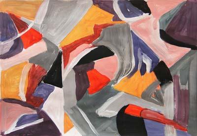 Loubna Combalat, Acrylique, 18.5x27