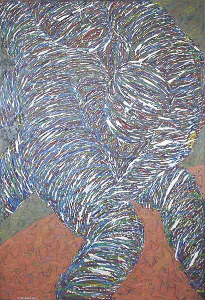 Lutteurs en train de lutter, 2004 Huile, 80x120cm