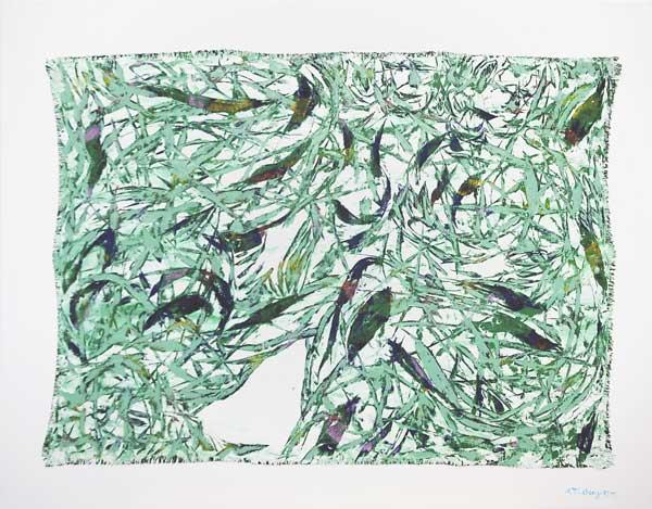 Tigresses fleuries, 2004 Huile, 92x73cm
