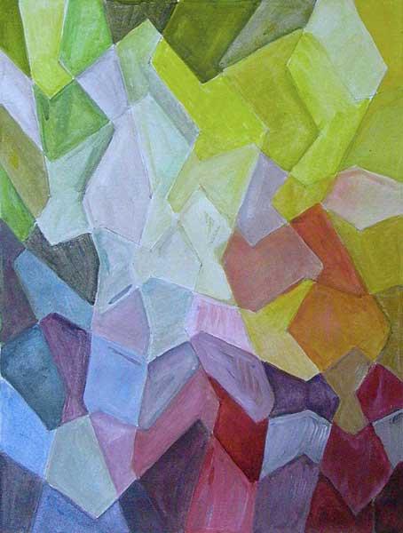 Hélène Rosselò, Structure mobile (d'après Paul Klee), 32x24cm