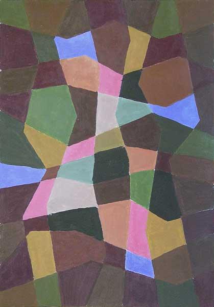 Sheila Bauer, Structure mobile (d'après Paul Klee), 40x28cm