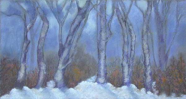 Robin Borzillo, La forêt, 22x45cm