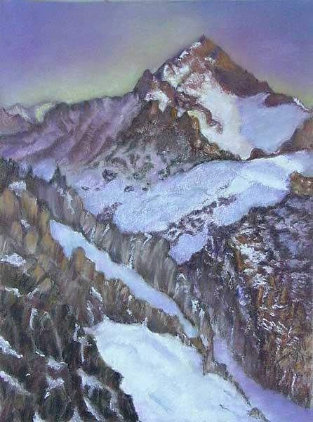 Robin Borzillo, Rythme circulaire (La montagne), 35x26cm
