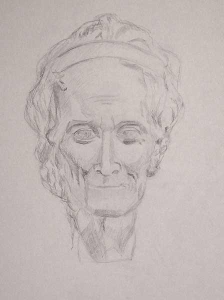 Vincent Ador, Voltaire, 65x50cm