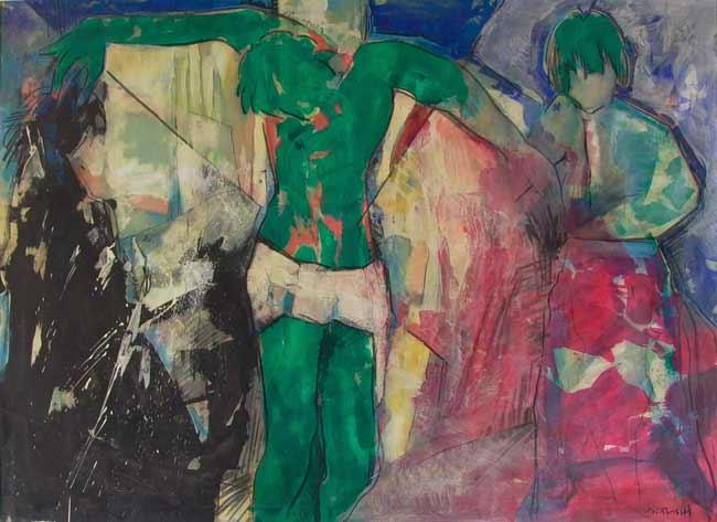 Dieu au centre (1987) 145 x 110