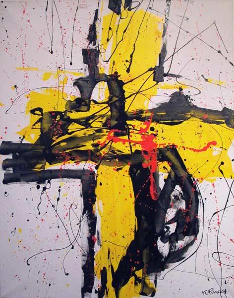 Croix jaune (1998) 85 x 110