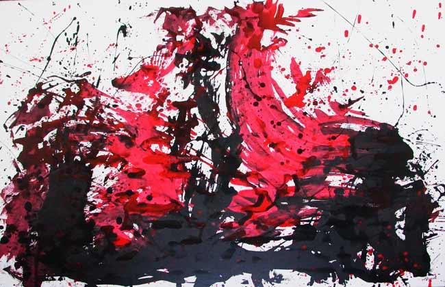 Noir, Rouge, Blanc (1998) 170 x 130