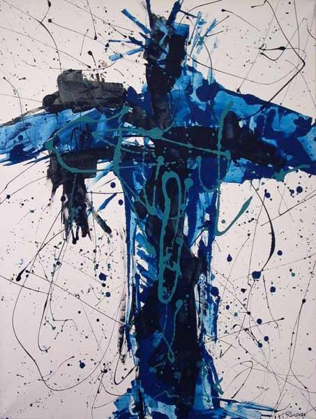 Croix bleue (1998) 85 x 110