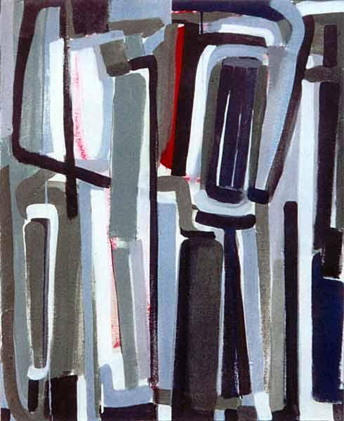 Toile, 2002 Pigments et gouache, 82x68cm