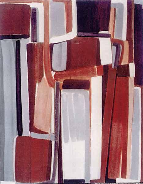 Toile, 2005 Pigments et gouache, 180x180cm