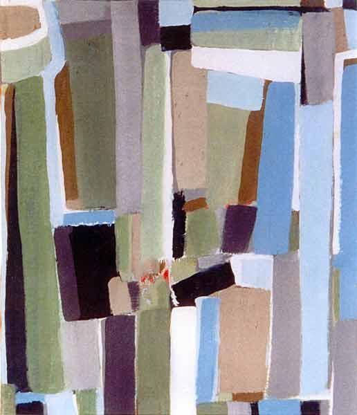 Toile, 2003 Pigments et gouache, 34x28cm vendu