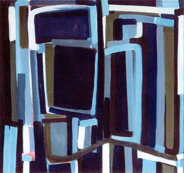Toile, 2002 Pigments et gouache, 74x78cm