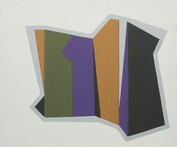no 14 de la série espace dynamique 50 x 61 cm, acrylique sur toile, Paris 1995