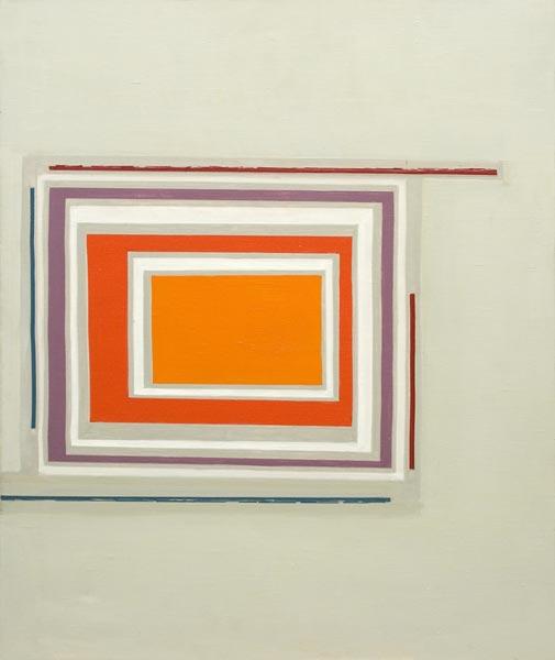 no 5 de la série espace dynamique 55 x 46 cm, acrylique sur toile, Paris 1993