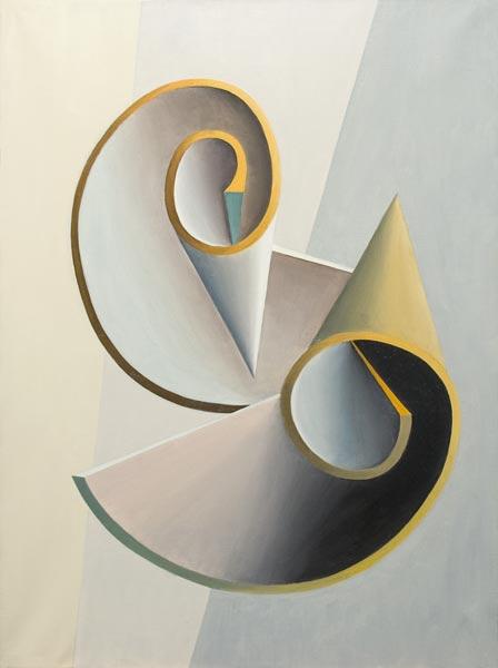 no 49 de la 8ème série de la métamorphose 81 x 60 cm, acrylique sur toile, Paris 1982