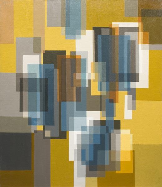 no 23 de la 7ème série de la métamorphose 70 x 60 cm, acrylique sur toile, Paris 1982