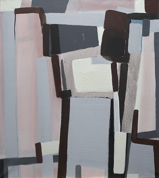 Toile, 2008 Pigments et liant acrylique, 80x90cm