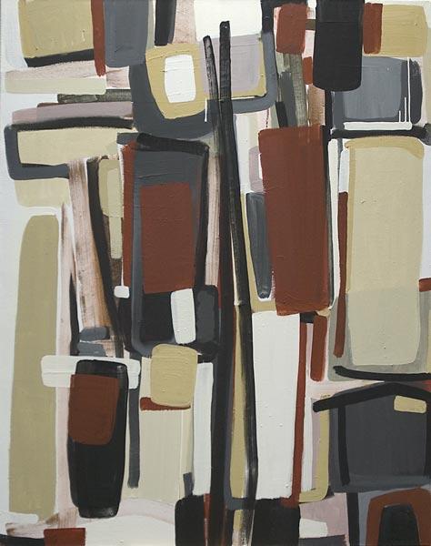 Toile, 2008 Pigments et liant acrylique, 110x140cm