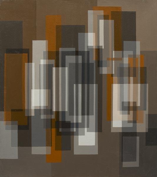 no 22 de la 7ème série de la métamorphose 70 x 60 cm, acrylique sur toile, Paris 1982