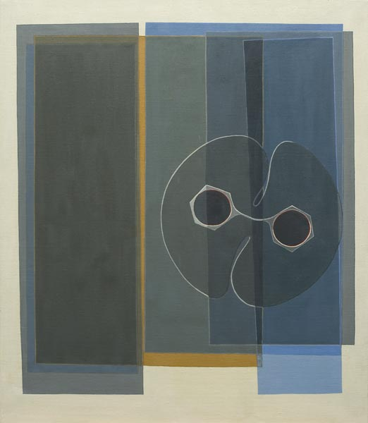 no 24 de la 6ème série de la métamorphose 65 x 54 cm, acrylique sur toile, Paris 1977