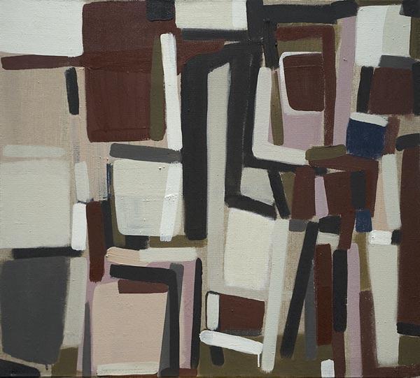 Toile, 2008 Pigments et liant acrylique, 90x95cm