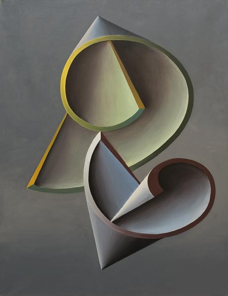 no 57 de la 8ème série de la métamorphose 73 x 54 cm, acrylique sur toile, Paris 1985