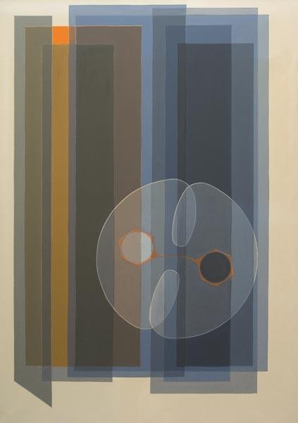 no 40 de la 6ème série de la métamorphose 117 x 80 cm, acrylique sur toile, Paris 1978