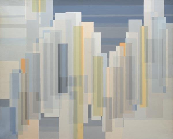 no 9 de la 7ème série de la métamorphose acrylique sur toile, Paris 1982
