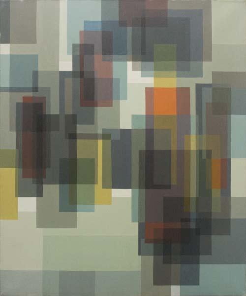 no 25 de la 7ème série de la métamorphose 65 x 54 cm, acrylique sur toile, Paris 1982