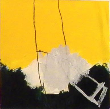 Sans titre - 1998 acrylique et crayon sur papier 12,5x12,5