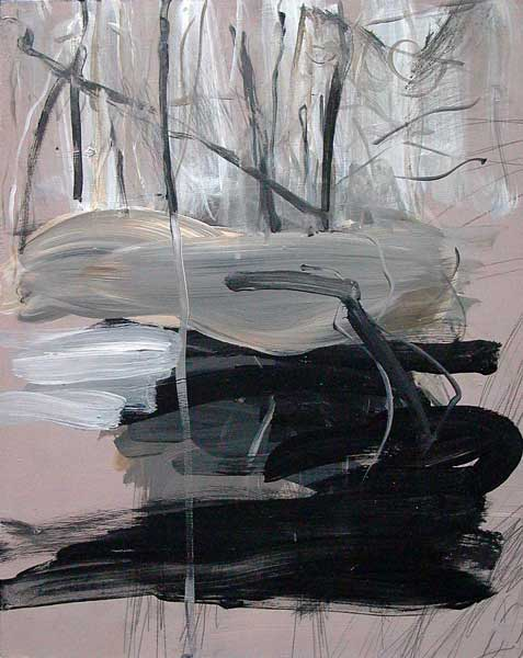 Alja Tadel, Etude de rythme circulaire (Forêt), 32x25cm
