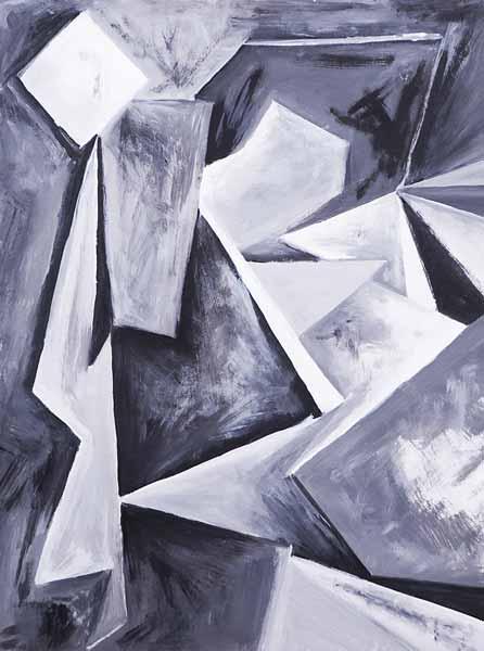 Gabriella SASSI, « Chemin secret », 40x30cm, acrylique sur papier
