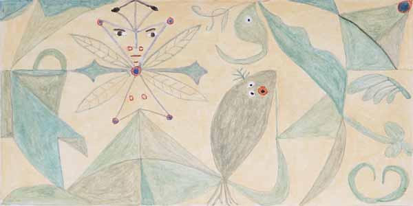 Armandina RODRIGUES, « Jardin merveilleux », 12x24 cm, acrylique sur papier
