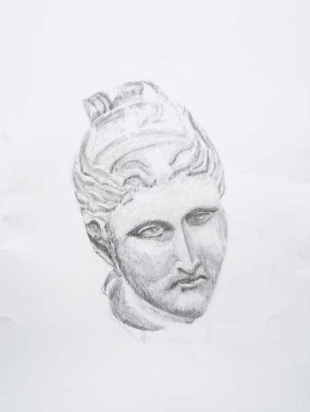 Jean-Jacques Nussberger, « Diane », 65x50cm, dessin