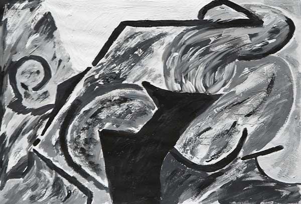 Jacqueline Simonin, « Rupture », 24x35cm, acrylique